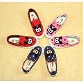 Bonito crianças causal sapatas de lona linda mickey dot sapatos baixos para 3-13yrs chidren sapatos das meninas dos meninos estudantes de lazer ao ar livre quente
