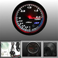 Universal 12V Black Chrome Face Auto Car Motor 60mm Turbo Boost Gauge Meter Defi Sensor With Bracket