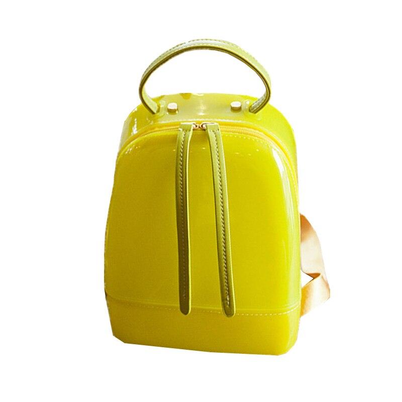 New Summer Beach Bags Women Cute Candy Backpacks For Teenage Girls Delicate Jelly Mini Backpack School Bags Bolsa Feminina 2017