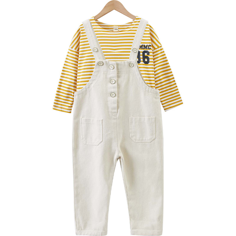 huge discount e9b19 47191 Kids clothes Girls clothing sets Stripe tshirts and Jumpsuit ...