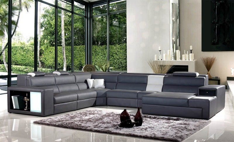 US $1300.0 |Modern living room sofa with LED light 0413 B2006-in Living  Room Sofas from Furniture on AliExpress
