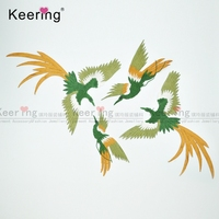 1 Set Fashion Phoenix Bird Applique Embroidery Combination Buiter Patch Clothes Dress Adornment Of DIY