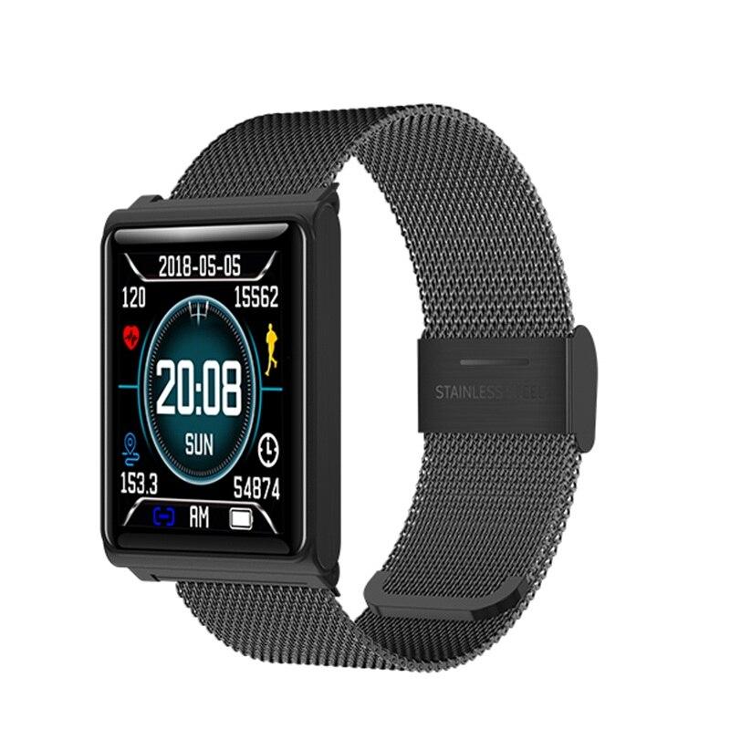 GIMTO модные Для мужчин Смарт часы Bluetooth IOS Iphone Android Smart устройства Сенсорный экран цифровой спортивные часы Водонепроницаемый здоровья часы