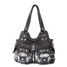 CGMANA Brand Large Pocket Casual Tote Bags 2018 Women's Handbag Shoulder Crossbody Handbags Soft Leather Capacity Bags For Women недорого