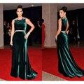 Red Carpet Dark Green Velvet Celebrity Evening Dress Beaded Women Long Kim Kardashian Celebrity Dresses Party Gowns ED06