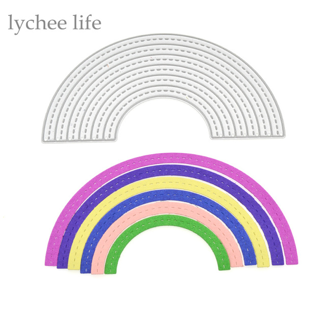 lychee diy half circle metal cutting dies stencils embossing card