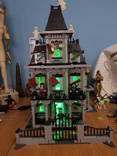 LED Light Up zestaw zabawek dla obsługi Lego 10228 miasta Monster Fighter nawiedzony model domowy (tylko zestaw lekki w zestawie)