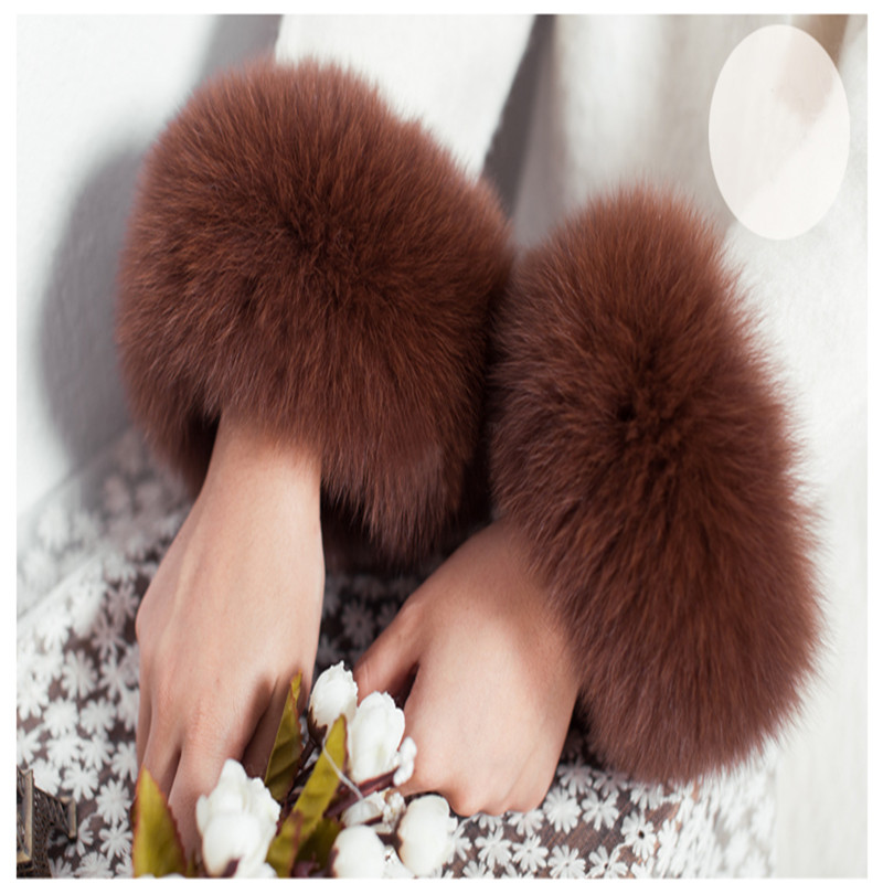 The Latest Fashion Models In 2019, Real High Quality Fox Fur Cuffs, Stylish Decorative Cuffs