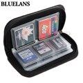 2015 hot preto de armazenamento de cartão de memória sd sdhc mmc cf micro sd bolsa de transporte case holder carteira 1o5t 636y