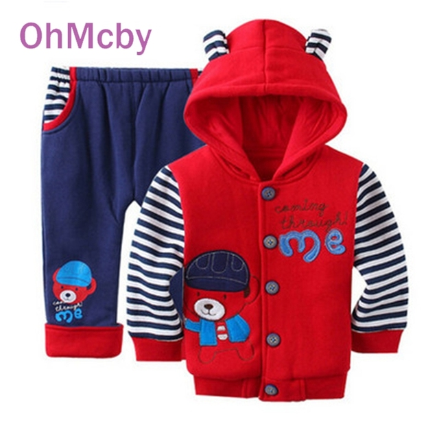 2016 Autumn Winter Kids Boy Clothing Set Cartoon Sripe Children Tracksuit Kids Clothing Suit Boys Girls Hoodie+trousers 2pcs Set