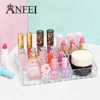 High Quality Clear Lipstick Holder Cosmetic Display Makeup Brushes Jewelry Cosmetic Showcase Makeup Organizer Decoration Case