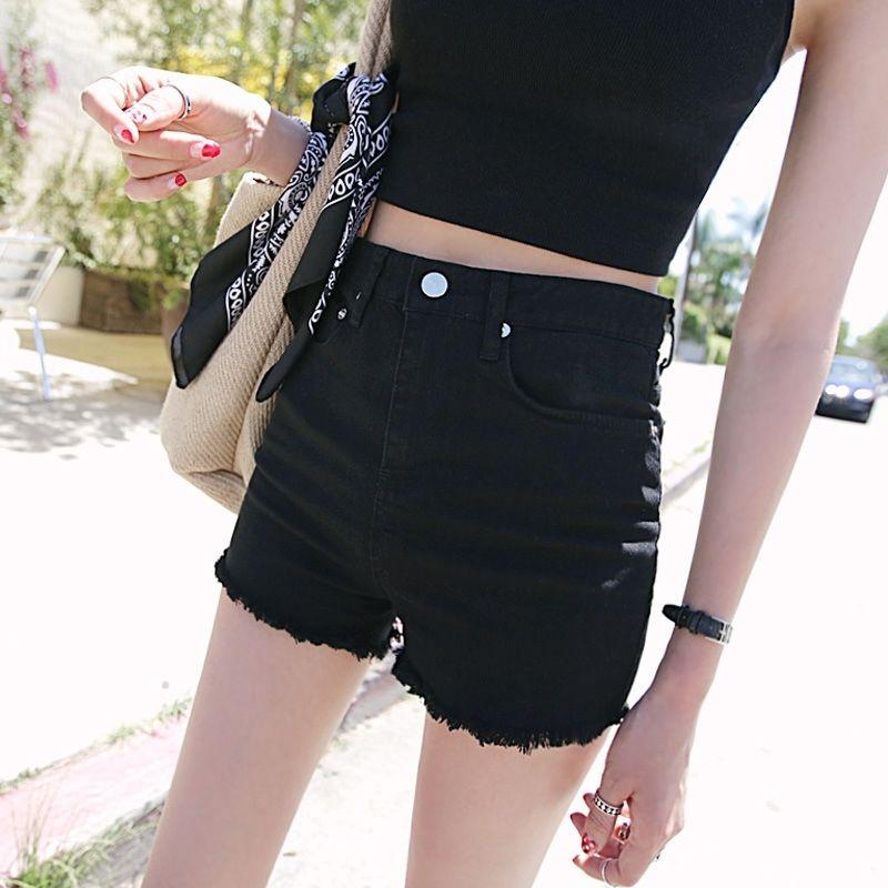 2019 New Fashion Vintage Denim Shorts Jeans Women trousers Cotton Black Casual Female Sexy Pockets Lady Short Pants