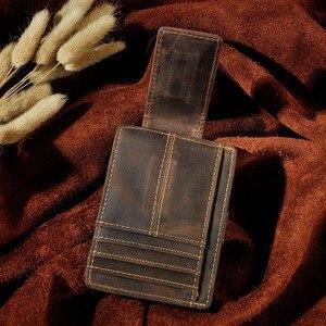 Image 3 - Nam Ban Đầu Thiết Kế Da Du Lịch Thời Trang Mỏng Nhẹ Túi Trước Từ Công Suất Lớn Kẹp Tiền Thẻ Dành Cho Nam 1025