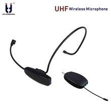 Бренд Ituf Профессиональный UHF беспроводной микрофон для голосового усилителя компьютерный беспроводной микрофон гарнитура микрофоны