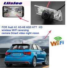 Liislee New product wireless reverse backup camera For Audi A1 8X A3 A4 A4L S4 RS4 A5 S5 RS5 Q5 CCD night vision waterproof HD