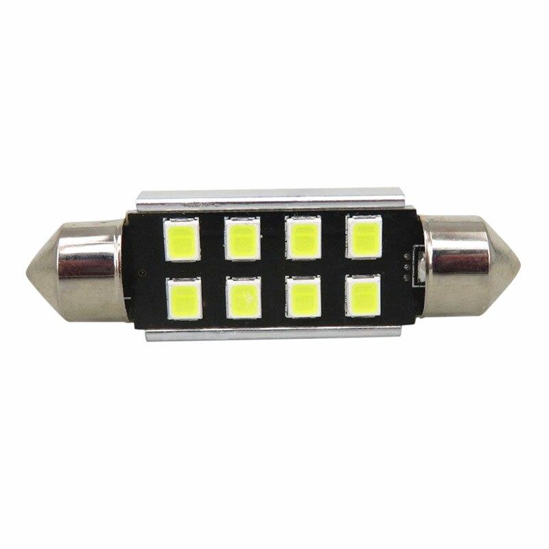 Wljh lâmpada led canbus branca, 10x, 36mm,