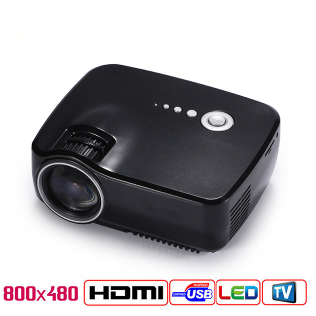 LED Projector 1200 Lumens 1080P remote Portable Multimedia Home Theather Theater Game Video Play with HDMI VGA USB AUDIO Plug