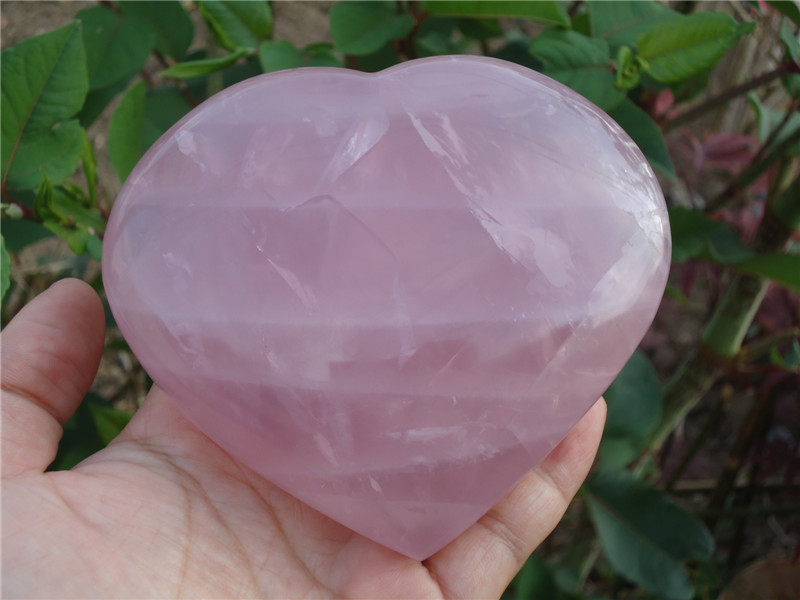 550G Rare Natural Rose Quartz Crystal Heart Reiki Stone PT1100550G Rare Natural Rose Quartz Crystal Heart Reiki Stone PT1100
