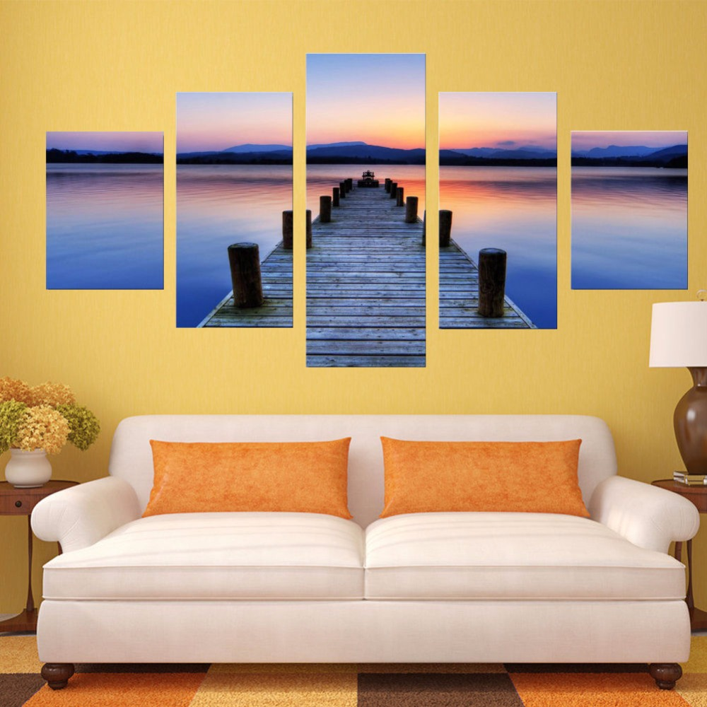 5 pieces Canvas Oil Painting Wall Art HD Prints Unframed Live Room ...