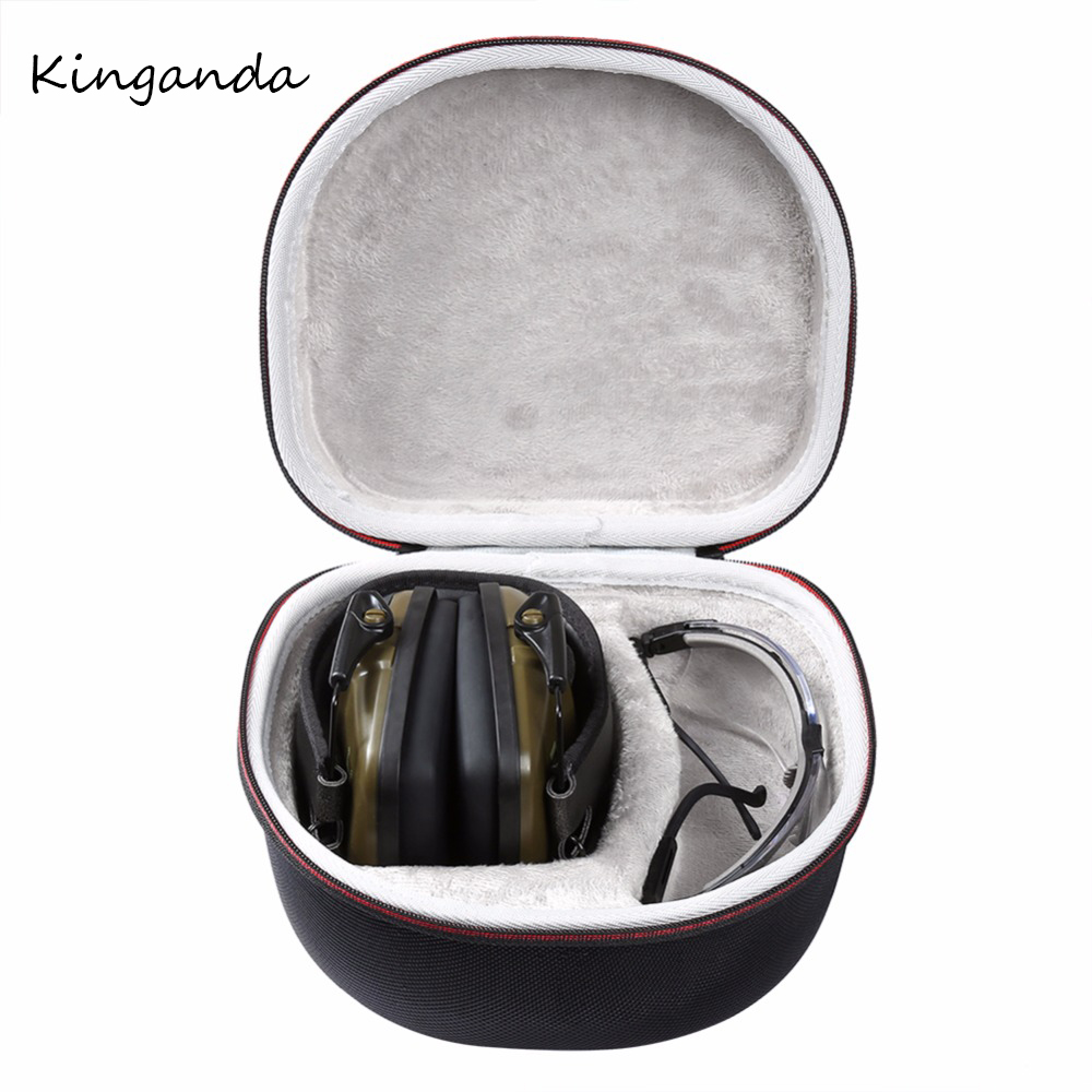 Durable Exterior Case For Howard Leight Impact Sport Headphone and For Honeywell Safety Eyewear Glasses (R-03570) Hard EVA Box