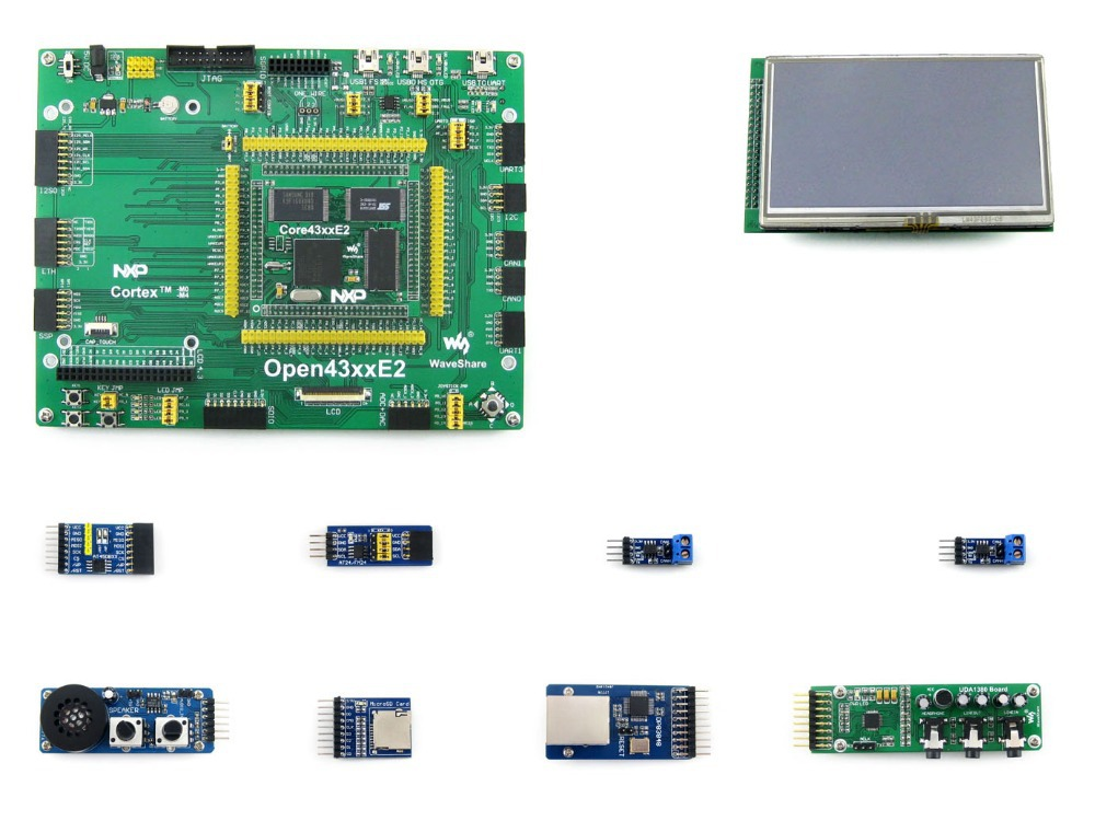 Modules 4.3inch LCD+ Ethernet +speaker+ ARM LPC4357 LPC43 Cortex M4/M0 dual core Development Board = Open4357-C Package A xilinx fpga development board xilinx spartan 3e xc3s250e evaluation board kit lcd1602 lcd12864 12 modules open3s250e package b
