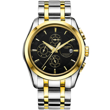 SEKARO Switzerland watches men luxury brand automatic mechanical military Chronograph watch outdoor sports Stainless steel black