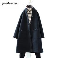 Yalabovso 2017 New Arrivals Winter Boyfriend Styles Thick Coat Jacket Retro Velvet Punk Loose Coat for woman A74 12541654 z15
