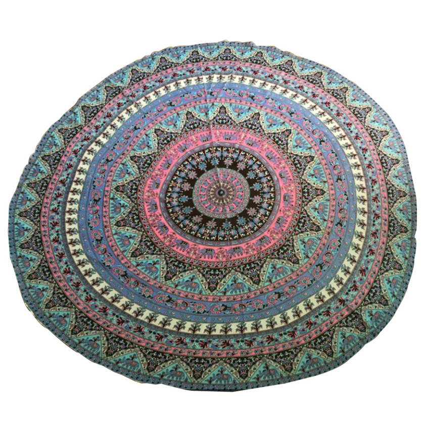 2018 drop shipping Table cover Home Deco High Quality Round Beach Pool Home Shower Towel Blanket Table Cloth Yoga Mat tablecloth