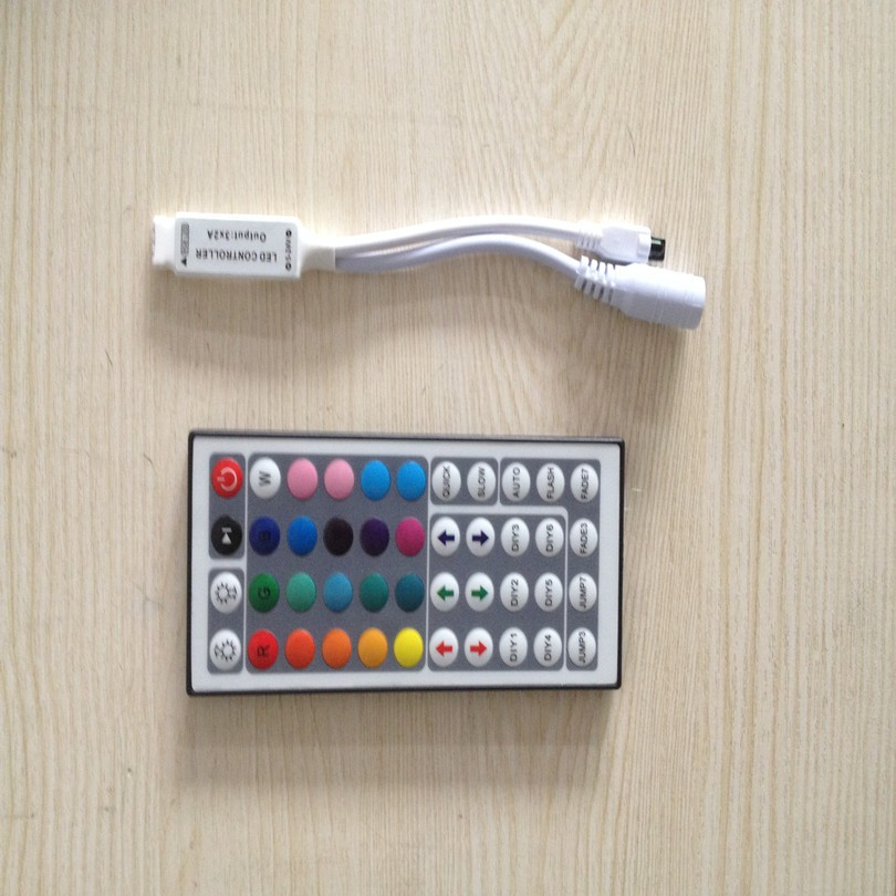 1pcs DC12V 44Key Mini IR Remote Controller For Flexible Tape SMD3528 5050 RGB LED Strip Lights