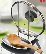 Free shipping Thick 304 stainless steel kitchen pot spoon rack with water tray shelving storage Storage Holders Racks