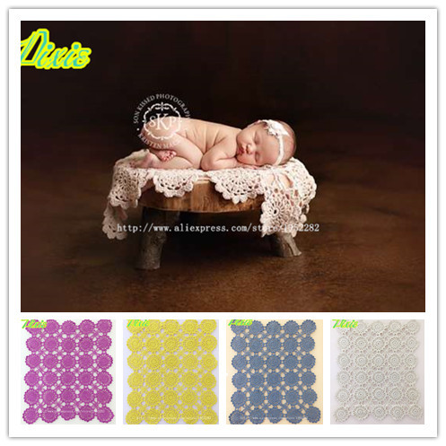 Fashion Hand-woven Baby Blankets wraps Newborn Photography Props,Rosette Wrap Baby Pattern Knitted children Photographic props