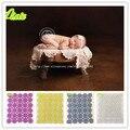 Moda mão de cobertores do bebê recém-nascido envolve fotografia adereços, Do envoltório de malha crianças fotografia adereços