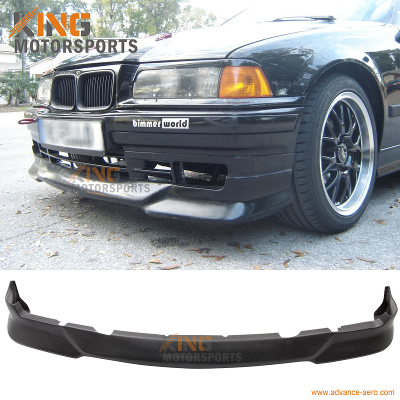 For 1992 1993 1994 1995 1996 1997 1998 BMW E36 3 Series M Tech Style Front Bumper Lip Unpainted - Urethane fit 1992 1993 1994 1995 honda civic 2 3dr front bumper lip spoiler bodykit ww style urethane