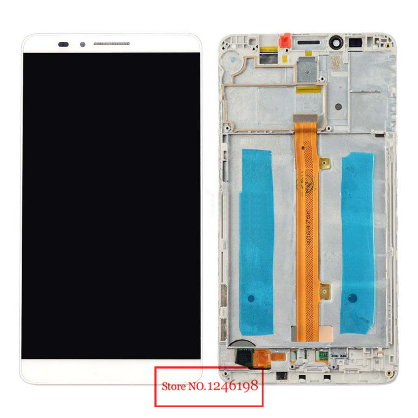 Replacement Full LCD Display Touch Screen Digitizer Assembly with frame For Huawei Ascend Mate 7 MT7