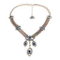 New Women Long Silver Blue High End Women S Luxury Appearance Gold Green Necklace