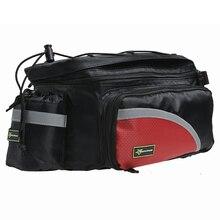ROCKBROS Bike Bicycle Cycling Bag Rear Carrier Bag Dual Saddle Bags Pack Trunk Pannier Rain Cover