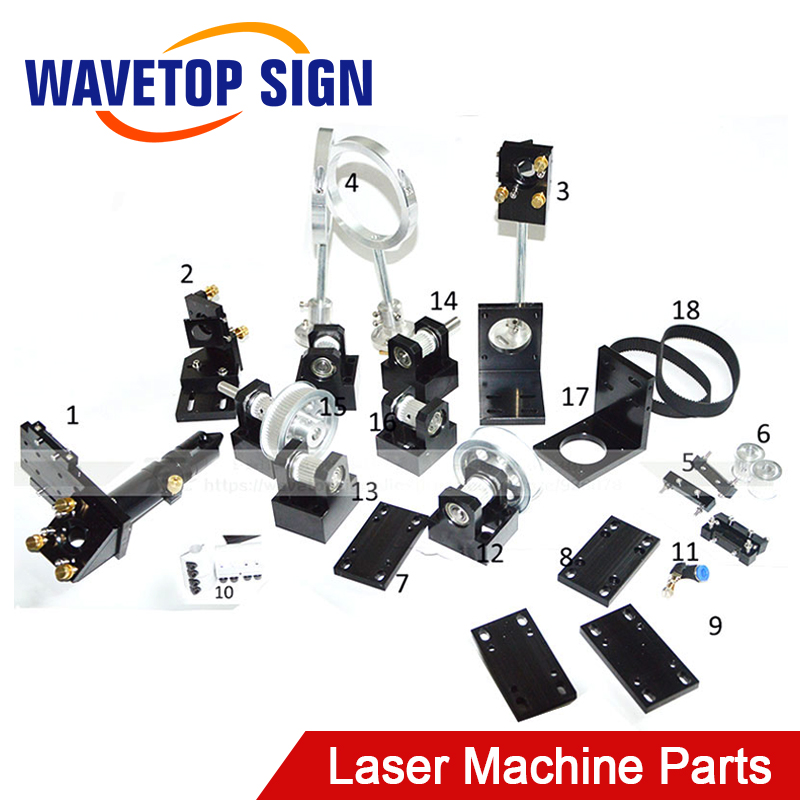 CO2 Laser Head Set CO2 Laser Metal Parts co2 laser path use for laser cutting and engraving machine стоимость