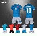 Hearui de gama Alta Personalizada Kids Soccer Jersey 2016 Nuevos Hombres Jóvenes En Blanco Traje de Entrenamiento de Fútbol Uniformes Del Equipo de Fútbol Conjuntos