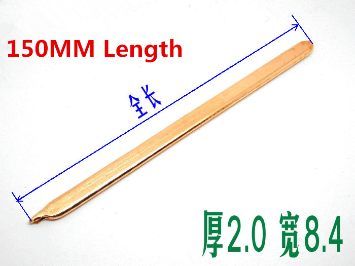 2PCS 150MM Length Pure Copper Flat Heat Pipe PC Heat Pipe Remould Heat Tube DIY Thick 2.0mm,Width 8.4 Laptop Heat Pipe for 1366 buckle 2011 buckle pure copper heat pipe clamp copper block wear 6 root diameter 6mm copper tube