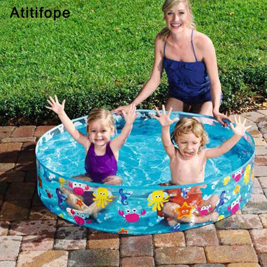 Non-toxique PVC en plastique Pas d'inflation monde Sous-Marin de motif Rond enfants piscine Enfants de bain Piscine De Natation D'été piscine