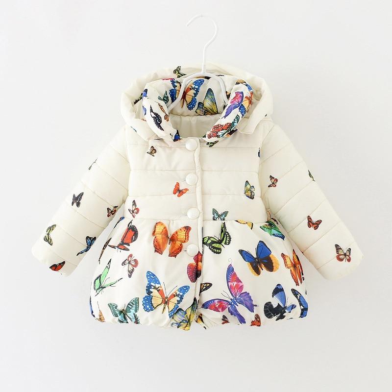 Kış Kız Bebek Ceket Kız Yastıklı Ceket Bebek Giyim Kız Wadded Ceket Bebek Kapüşonlu Ceket WX072