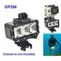 Бесплатная Доставка! 30 М Дайвинг водонепроницаемый LED Video light + батарея + пряжка крепление Для Gopro Hero/Sj4000 GITUP/Xiaomi Yi Камеры Аксессуары