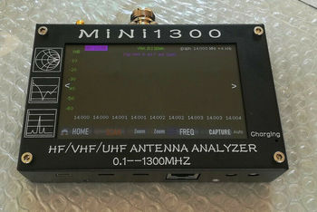 New Upgrade Mini1300 4.3inch 0.1-1300mhz HF/VHF/UHF Antenna Analyzer Capacitive Touch Screen