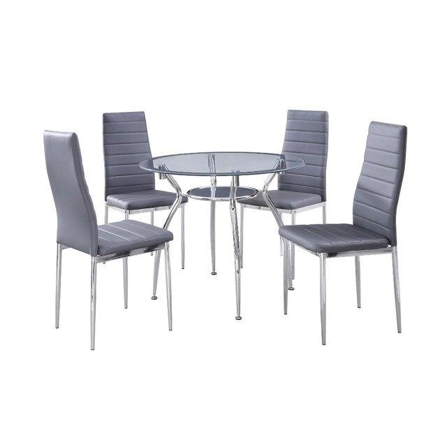 1 Set 5 Piece Makan Rumah Furniture Kitchen Set Bingkai Logam