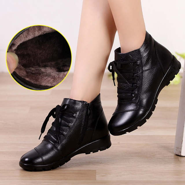 08fa32b07335 Online Shop MUYANG Chinese Brands genuine leather boots women ...