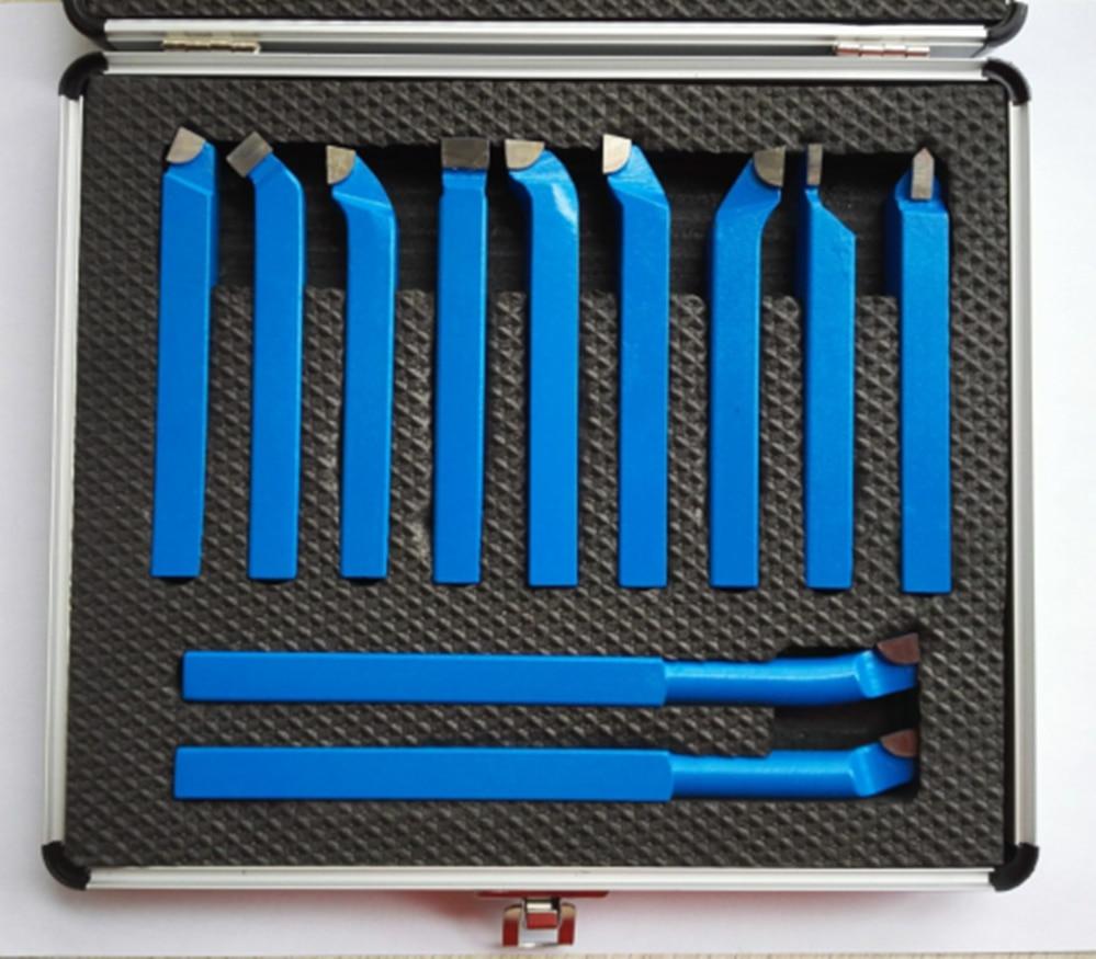 11 STÜCKE Metall Hartmetall CNC Drehwerkzeuge Mayitr Hartmetall Gelötet Gekippt Cutter Werkzeug Schneiden Set Kits Schweißen Drehwerkzeug halter