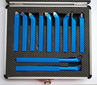 11PCS Metal Carbide CNC Lathe Tools Mayitr Carbide Brazed Tipped Cutter Tool Bit Cutting Set Kits