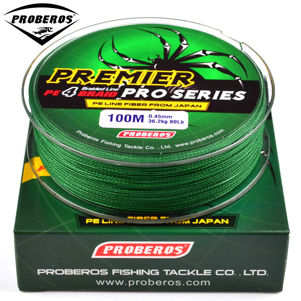 100m fishing line red green grey yellow blue braided for Red fishing line