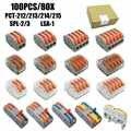 شحن مجاني (100 قطعة/صندوق) البسيطة سريع سلك موصلات ، الميثاق العالمي موصل الأسلاك ، دفع في محطة كتلة PTC-221 222