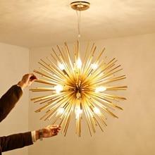 Nordic post-modern living room bedroom restaurant golden ball chandelier lighting art dandelion LED chandelier led lighting lamp(China)
